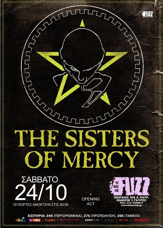 Sisters of Mercy - Live Athens - Ιερά Οδός - Αφίσα
