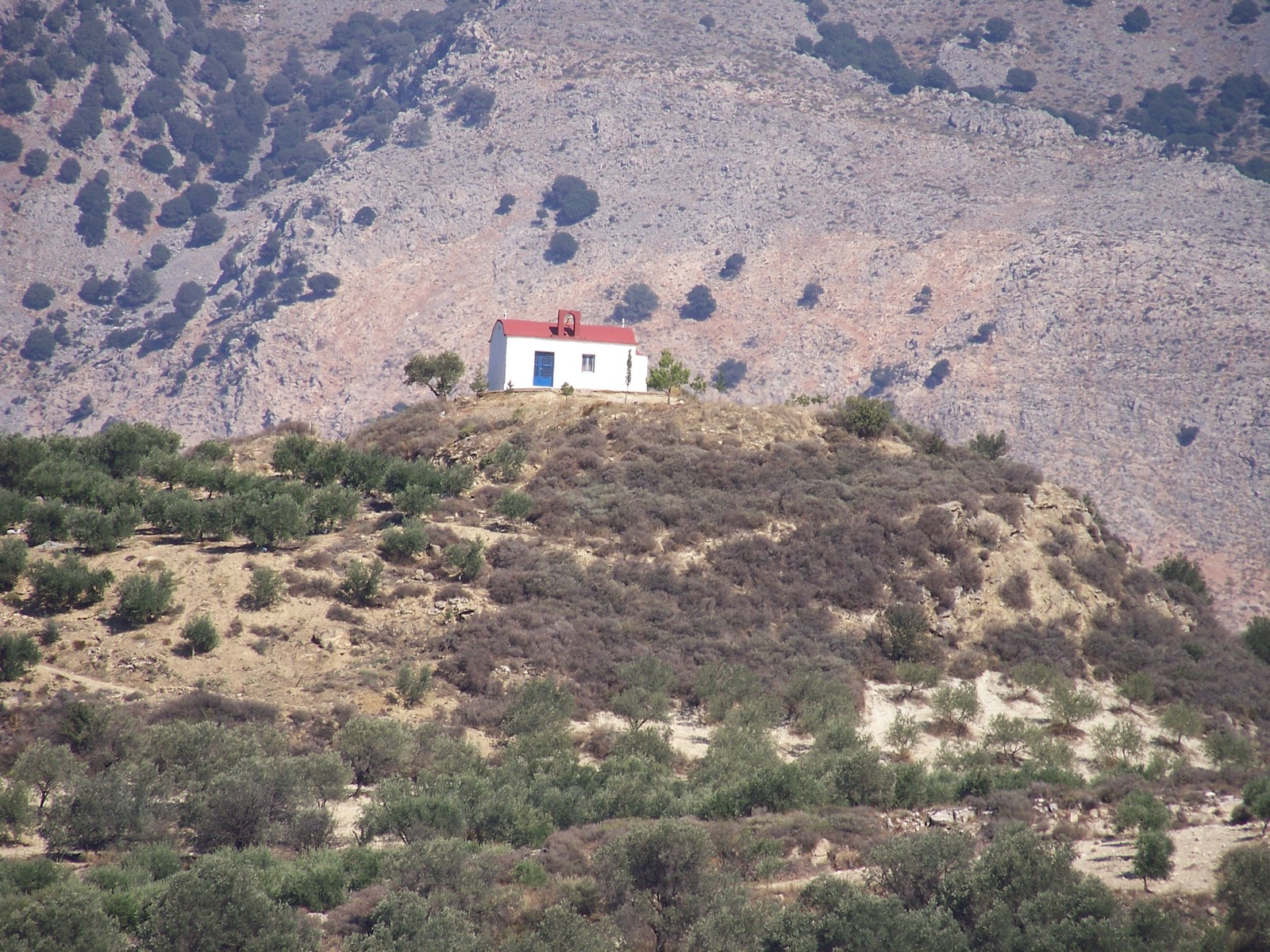 little church on the mounter Moroni Messara Heraklio Crete